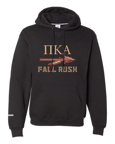 FSU Pike Fraternity Russell Athletic Cotton Hoodie - Black - 5KounT2018