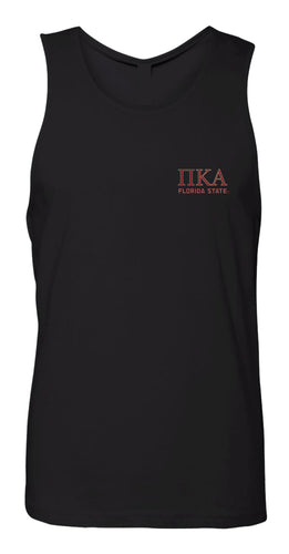 FSU Pike Fraternity Men's Tank Top - Black - 5KounT2018