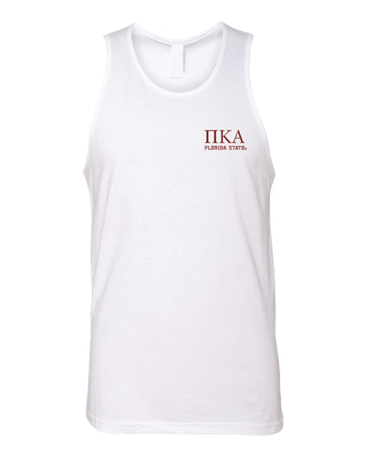 FSU Pike Fraternity Men's Tank Top - White - 5KounT2018