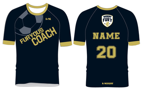 FURY Special Edition Sublimated COACH Shirt - Short Sleeve - 5KounT2018