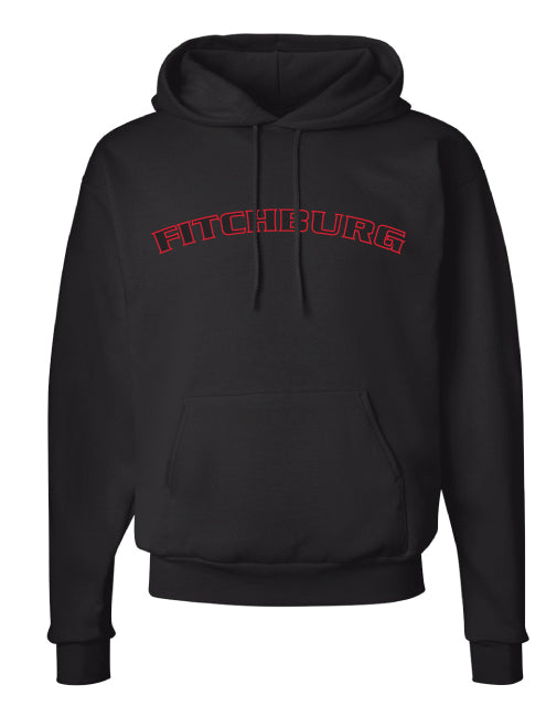 Fitchburg Youth Wrestling Cotton Hoodie - Black