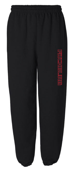 Fitchburg Youth Wrestling Cotton Sweatpants - Black