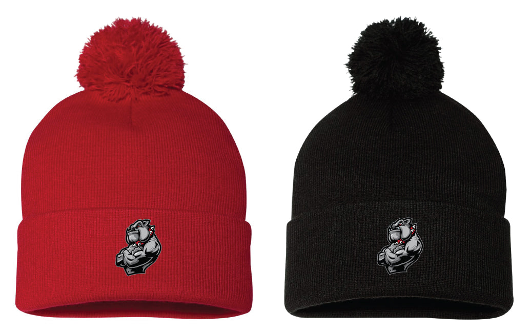 43b6ce21d94 Fitchburg Youth Wrestling Pom Beanies - Red or Black – 5KounT