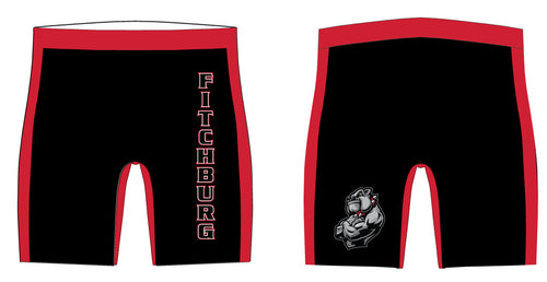 Fitchburg Youth Wrestling Sublimated Compression Shorts - Black