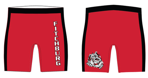 Fitchburg Youth Wrestling Sublimated Compression Shorts - Red