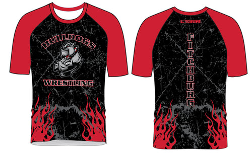 Fitchburg Youth Wrestling Sublimated Fight Shirt - Black