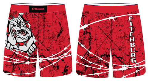 Fitchburg Youth Wrestling Sublimated Fight Shorts - Red