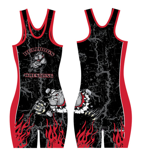Fitchburg Youth Wrestling Women Sublimated Singlet - Black