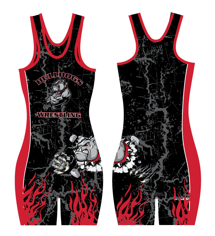 Fitchburg Youth Wrestling Women Sublimated Singlet - Black - 5KounT2018