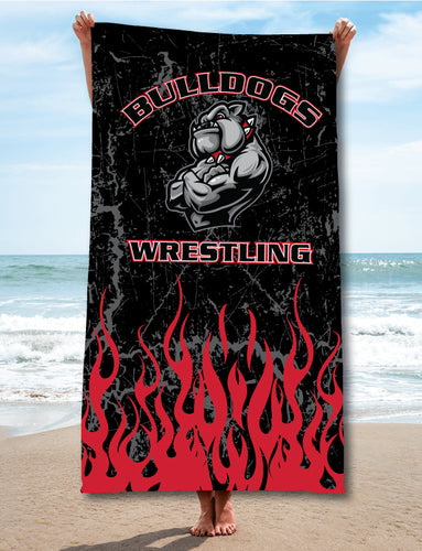Fitchburg Youth Wrestling Sublimated Beach Towel