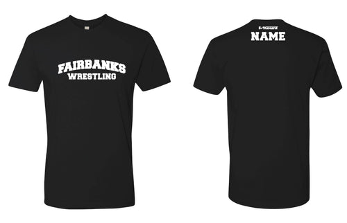 Fairbanks HS Wrestling Cotton Crew Tee - Black
