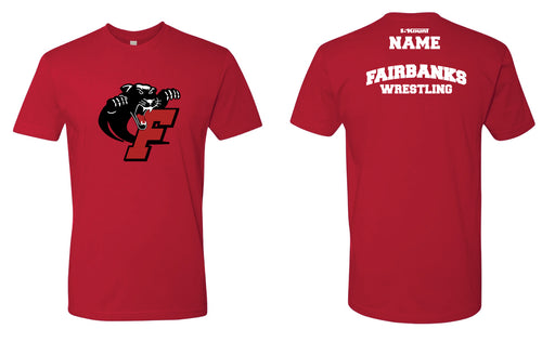 Fairbanks HS Wrestling Cotton Crew Tee - Red