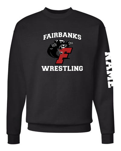 Fairbanks HS Wrestling Crewneck Sweatshirt - Black