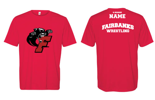 Fairbanks HS Wrestling DryFit Performance Tee - Red