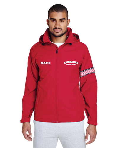 Fairbanks HS Wrestling All Season Hooded Jacket - Red
