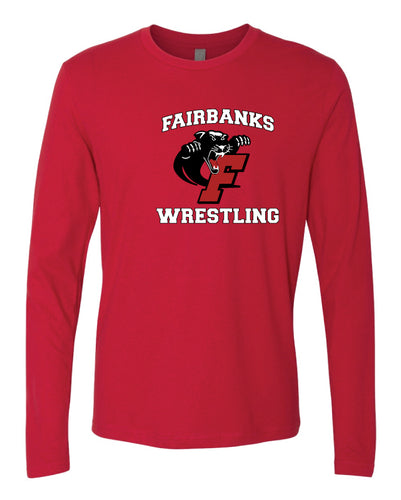 Fairbanks HS Wrestling Long Sleeve Cotton Crew - Red