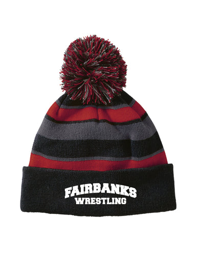 Fairbanks HS Wrestling Pom Beanie - Black