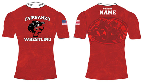 Fairbanks HS Wrestling Sublimated Compression Shirt