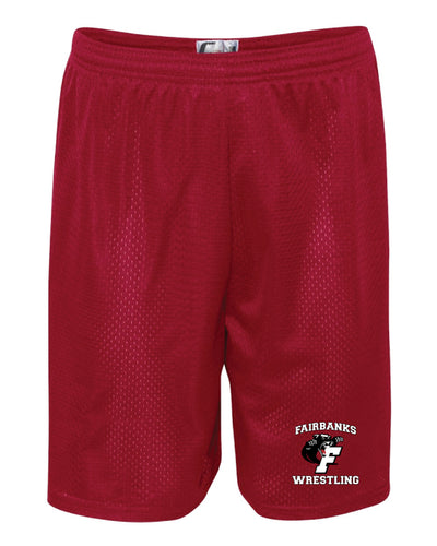Fairbanks HS Wrestling Tech Shorts - Red