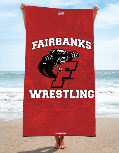 Fairbanks HS Wrestling Sublimated Beach Towel