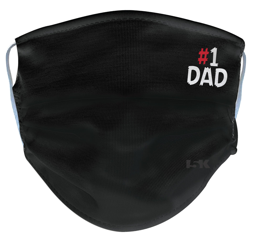 Father's Day Black Reusable Face Mask