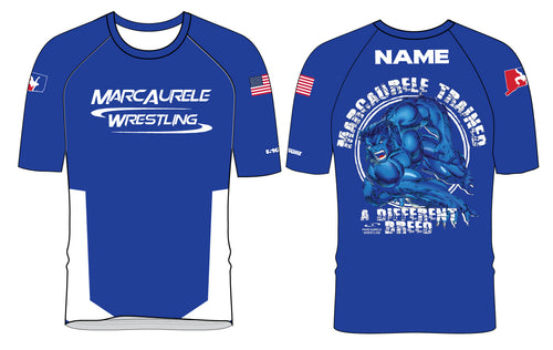 MarcAurele Sublimated Fight Shirts - Royal/White/Black