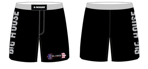 Big House Youth Fitness and Wrestling Sublimated Fight Short - Black/Red