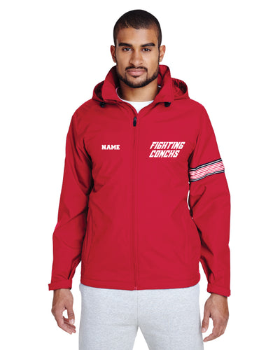 Key West Fighting Conchs Wrestling All Season Hooded Jacket - Red