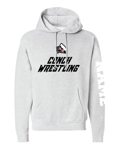 Key West Fighting Conchs Wrestling Cotton Hoodie - Ash