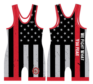 Fire Fighter Singlet We Fight What You Fear