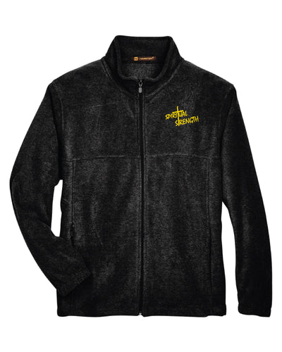 Spiritual Strength Full Zip Fleece - Black