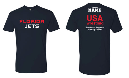 Florida Jets Wrestling Cotton Crew Tee - Navy - 5KounT2018