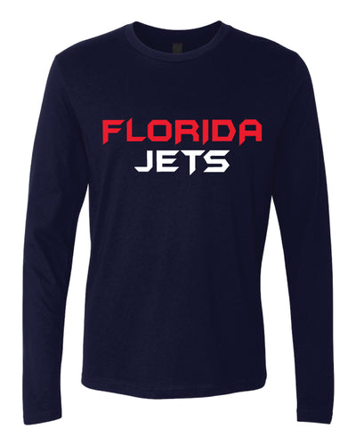 Florida Jets Wrestling Cotton Long Sleeve - Navy - 5KounT2018