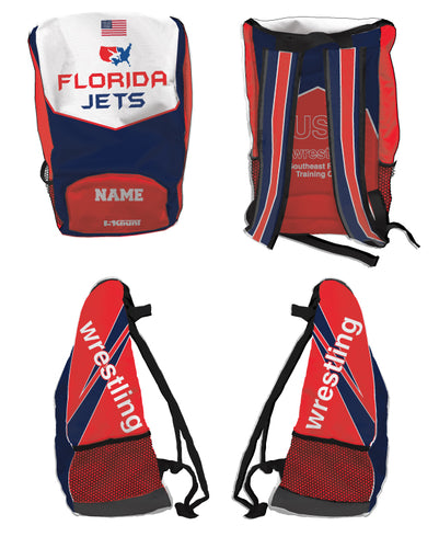 Florida Jets Wrestling Sublimated Backpack - 5KounT2018