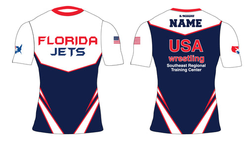 Florida Jets Wrestling Sublimated Compression Shirt - 5KounT2018