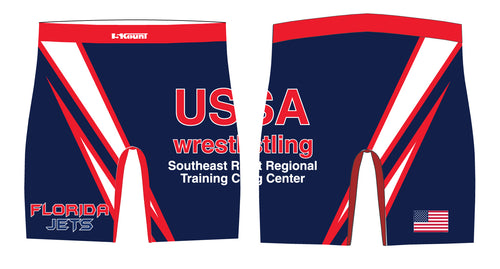 Florida Jets Wrestling Sublimated Compression Shorts - 5KounT2018