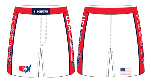 Florida Jets Wrestling Sublimated Fight Shorts - 5KounT2018