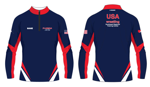 Florida Jets Wrestling Sublimated Quarter Zip - 5KounT2018