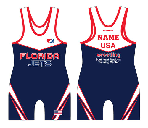 Florida Jets Wrestling Sublimated Singlet - 5KounT2018