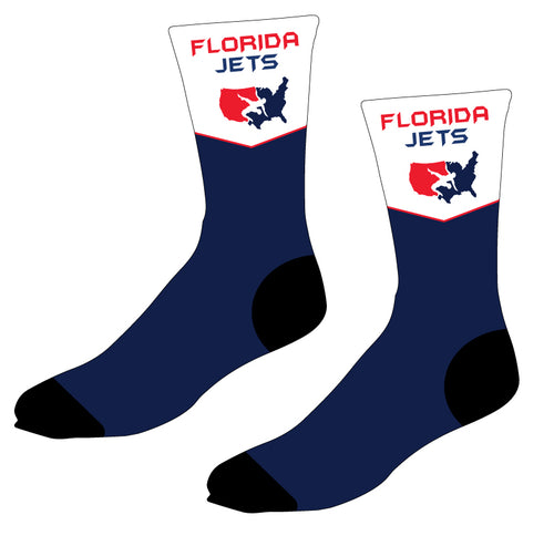 Florida Jets Wrestling Sublimated Socks - 5KounT2018