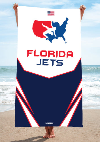 Florida Jets Wrestling Sublimated Beach Towel - 5KounT2018