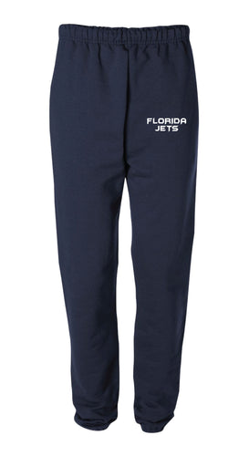 Florida Jets Wrestling Cotton Sweatpants - Navy - 5KounT2018