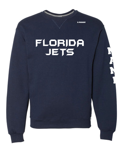 Florida Jets Wrestling Russell Athletic Cotton Crewneck Sweatshirt- Navy - 5KounT2018