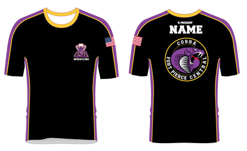 Fort Pierce Cobras Wrestling Sublimated Fight Shirt Design 2 - 5KounT
