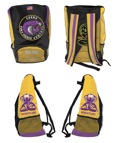 Fort Pierce Cobras Wrestling Sublimated Backpack - 5KounT