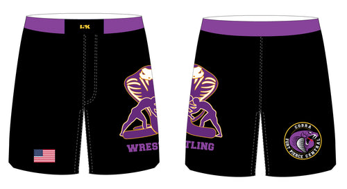 Fort Pierce Cobras Wrestling Sublimated Fight Shorts - 5KounT