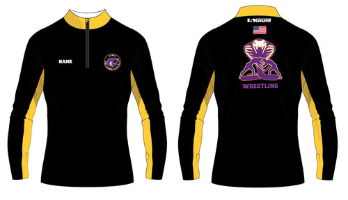 Fort Pierce Cobras Wrestling Sublimated Quarter Zip - 5KounT