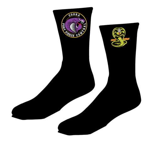 Fort Pierce Cobras Wrestling Sublimated Socks - 5KounT