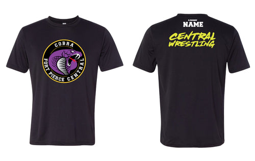 Fort Pierce Cobras Wrestling DryFit Performance Tee - Black - 5KounT