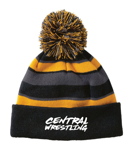 Fort Pierce Cobras Wrestling Pom Beanie - Black - 5KounT